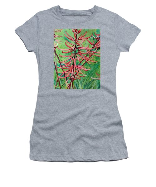 Coral Bean Flowers Women's T-Shirt