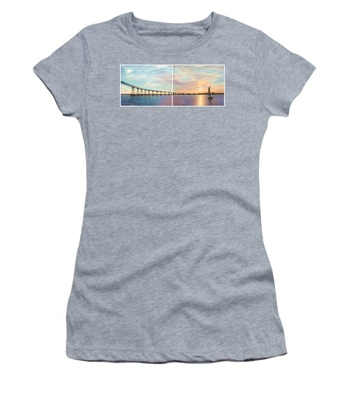Coronado Bridge Sunset Diptych Women's T-Shirt