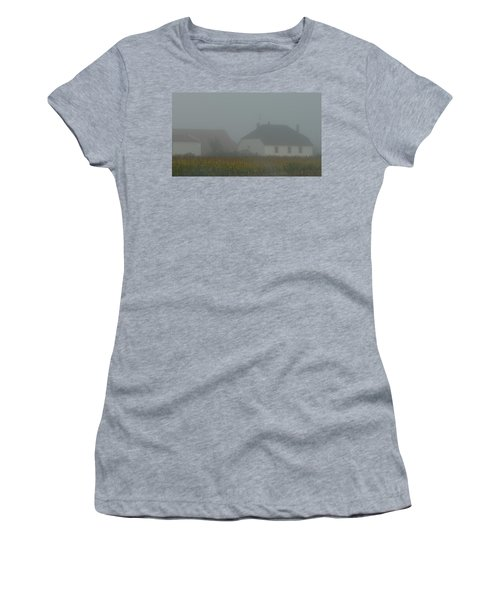 Cottage In Mist Women's T-Shirt (Athletic Fit)