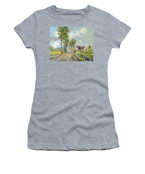 Cottage On Poplar Lane Women's T-Shirt (Athletic Fit)