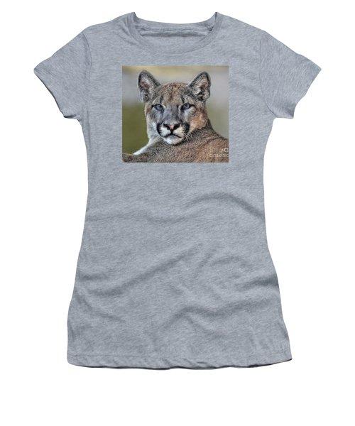 Women's T-Shirt (Junior Cut) featuring the photograph Cougar  by Savannah Gibbs