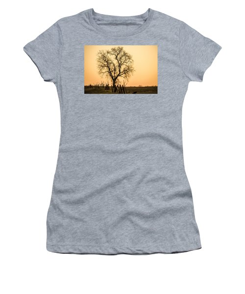 Country Fence Sunset Women's T-Shirt