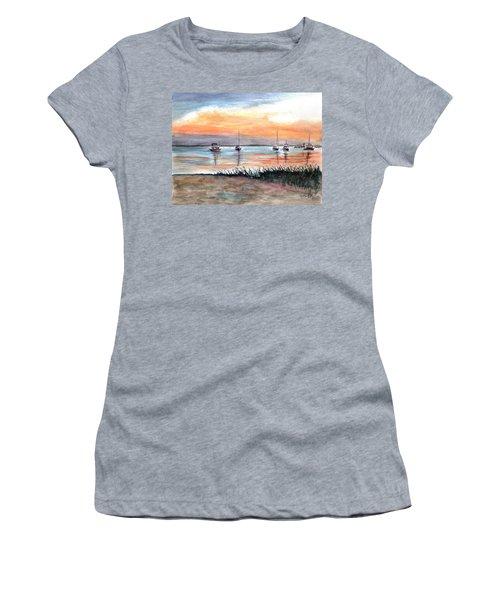 Cove Sunrise Women's T-Shirt (Junior Cut) by Clara Sue Beym