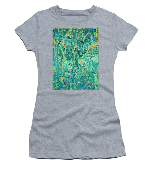 Cracks In Blue Women's T-Shirt (Athletic Fit)