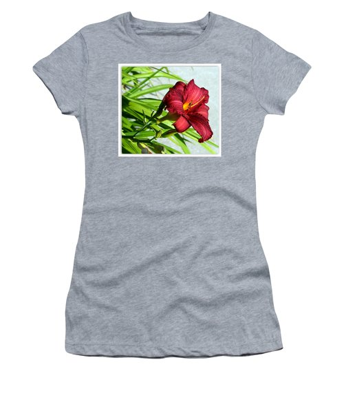 Cranberry Colored Lily Women's T-Shirt (Athletic Fit)