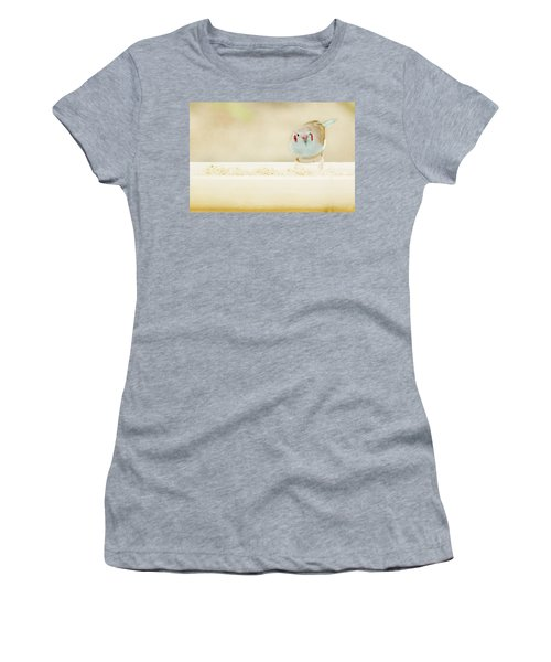 Curious Cordon Bleu Finch  Women's T-Shirt (Athletic Fit)
