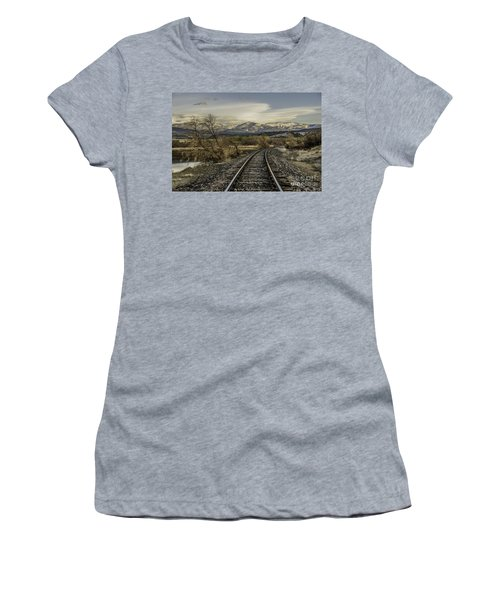 Curve In The Tracks Women's T-Shirt