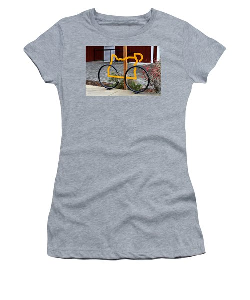 Women's T-Shirt (Junior Cut) featuring the photograph Cycle Oregon by Kevin Desrosiers