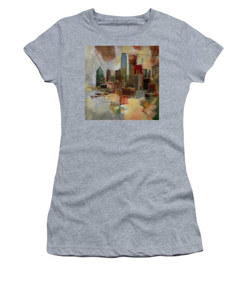 Dallas Skyline 003 Women's T-Shirt (Athletic Fit)