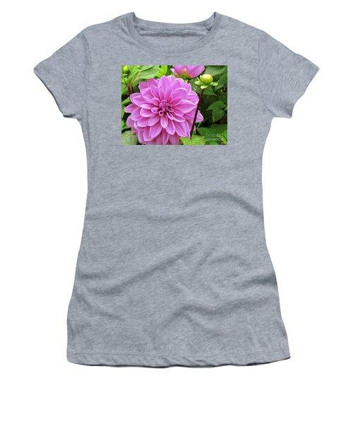Decadent Dahlia   Women's T-Shirt (Athletic Fit)