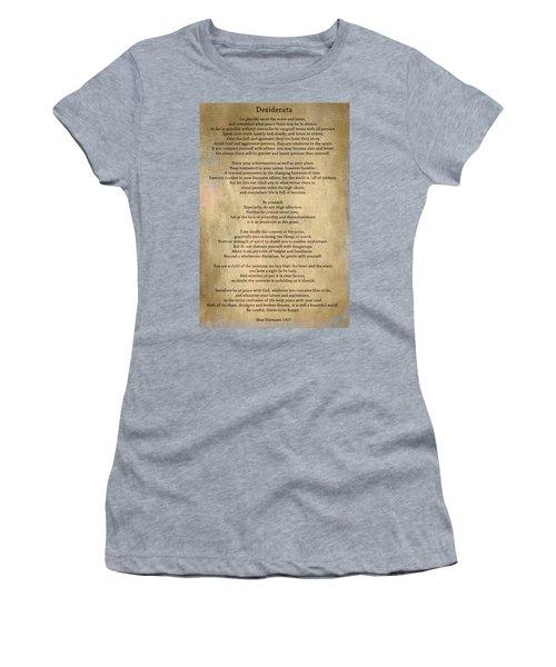 Desiderata - Scrubbed Metal Women's T-Shirt