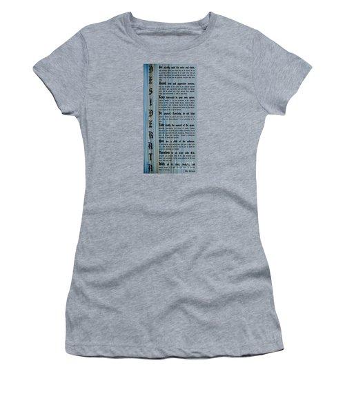 Desiderata 14 Women's T-Shirt (Athletic Fit)