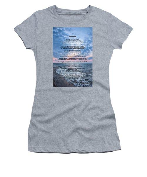 Desiderata Wisdom Women's T-Shirt (Athletic Fit)