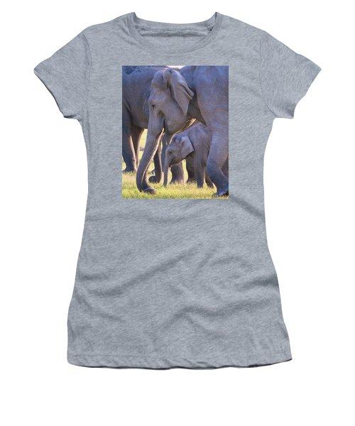 Dhikala Elephants Women's T-Shirt (Athletic Fit)