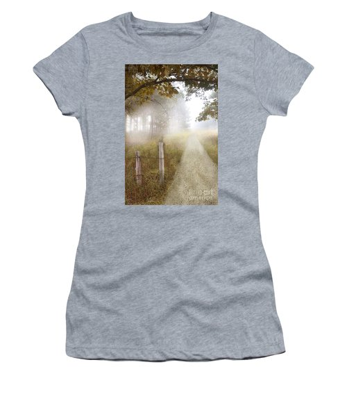 Dirt Road In Fog Women's T-Shirt (Athletic Fit)