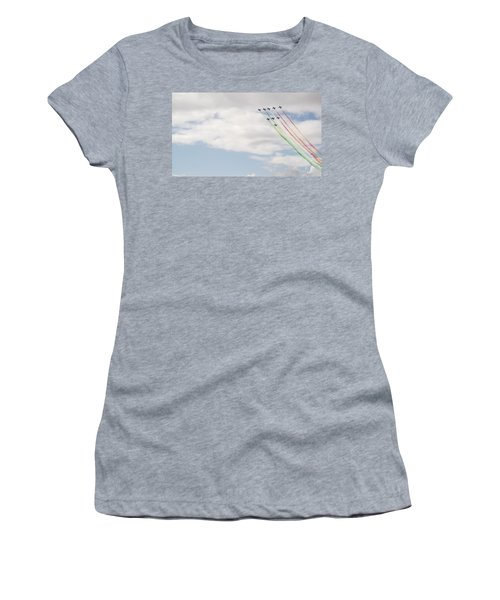 Displaying The Flag Women's T-Shirt (Athletic Fit)