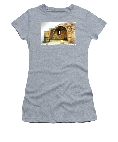 Women's T-Shirt (Athletic Fit) featuring the photograph Do-00427 Citadel Of Sidon by Digital Oil