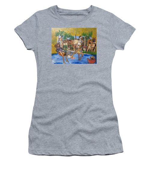 Women's T-Shirt (Junior Cut) featuring the painting Dog Days Of Summer by Lisa Piper