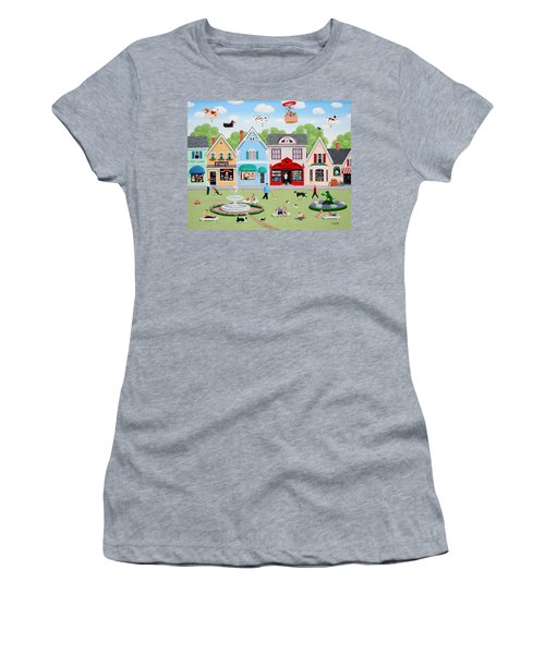 Dog Lovers' Lane Women's T-Shirt (Athletic Fit)