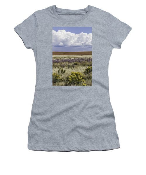 Dove Creek Fall Flowers Women's T-Shirt (Athletic Fit)