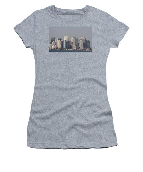 Downtown Manhattan Shot From The Staten Island Ferry Women's T-Shirt (Junior Cut) by John Telfer