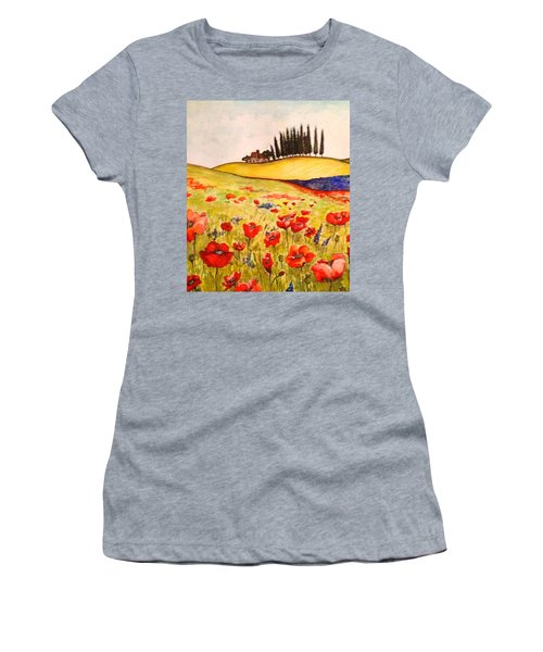 Dreaming Of Tuscany Women's T-Shirt (Athletic Fit)