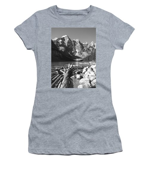 Driftwood - Black And White Women's T-Shirt (Athletic Fit)