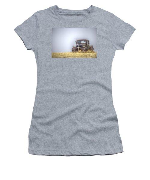 A Rusty Abandoned Truck Near Sturgis South Dakota Women's T-Shirt (Athletic Fit)
