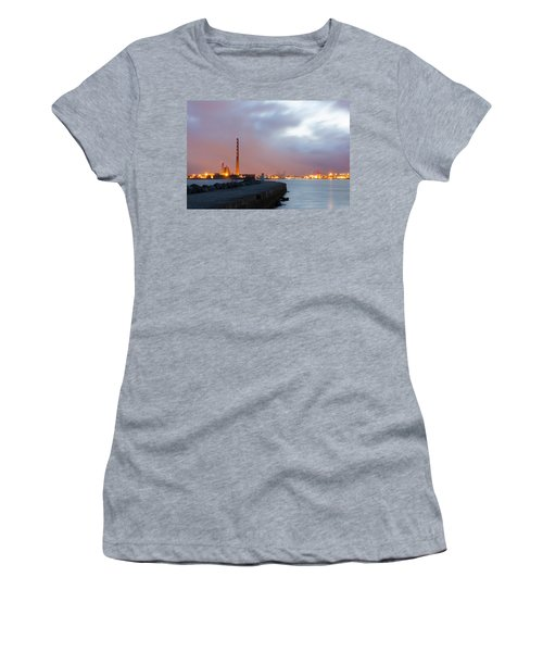 Dublin Port At Night Women's T-Shirt (Athletic Fit)