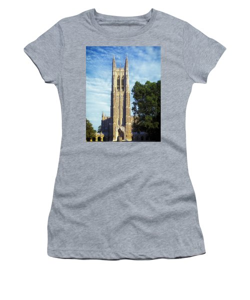 Duke University's Chapel Tower Women's T-Shirt (Athletic Fit)