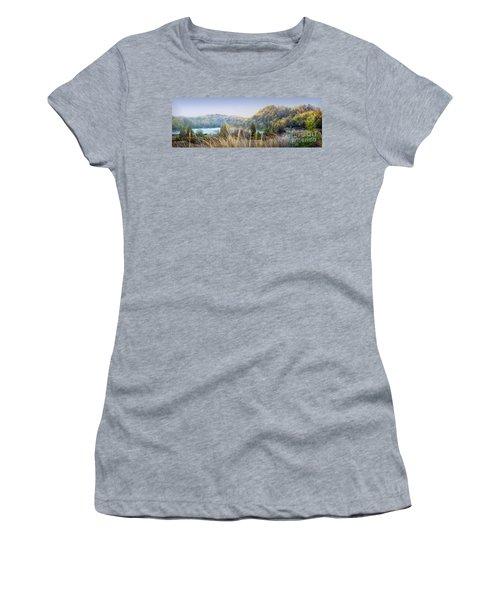 Dune Lake Panorama Saugatuck Mi Women's T-Shirt (Athletic Fit)