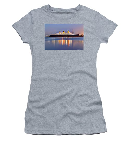 Dusk Light On The Queen Mary Women's T-Shirt (Athletic Fit)
