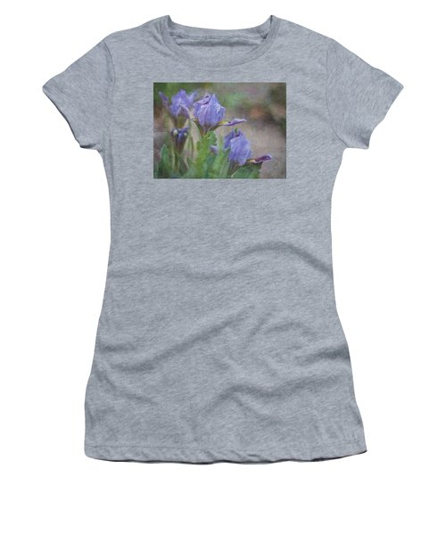 Dwarf Iris With Texture Women's T-Shirt (Junior Cut) by Patti Deters