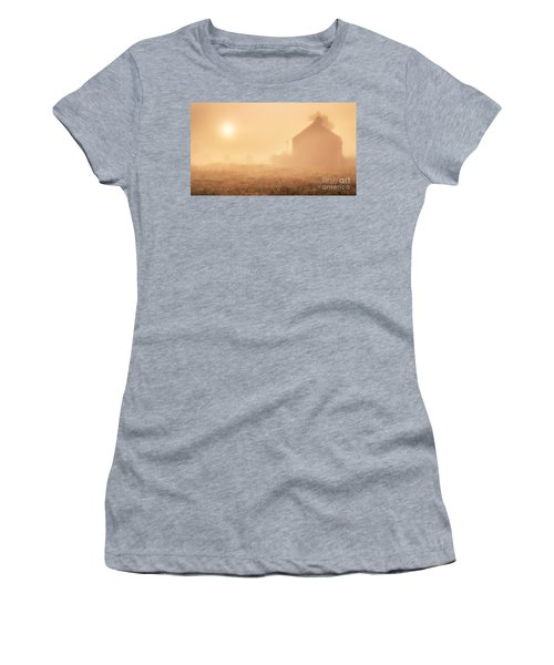 Early Foggy Morning On The Farm Women's T-Shirt