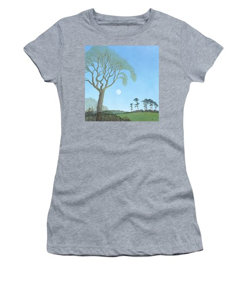 Early Moon, 2007 Oil On Canvas Women's T-Shirt