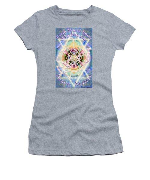 Earth Water Spirit Madonna Peace Matrix Women's T-Shirt (Athletic Fit)