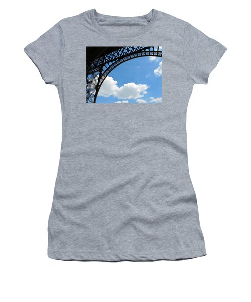 Eiffel Clouds Women's T-Shirt (Athletic Fit)