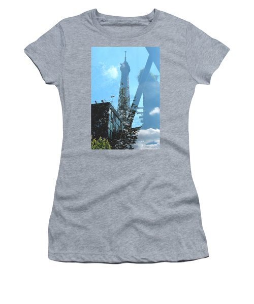 Eiffel Collage Women's T-Shirt (Athletic Fit)