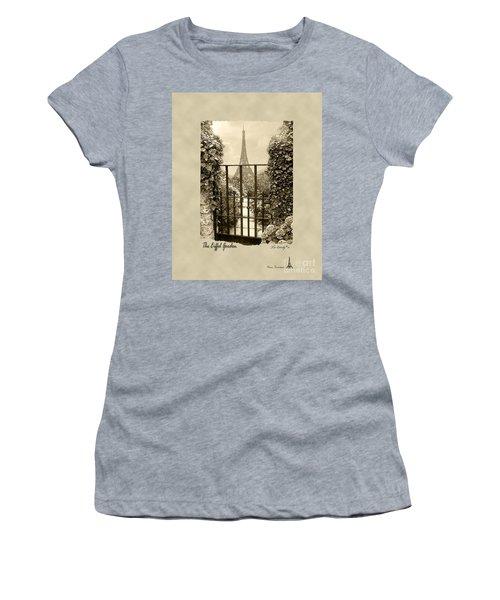 Eiffel Garden Sepia Women's T-Shirt