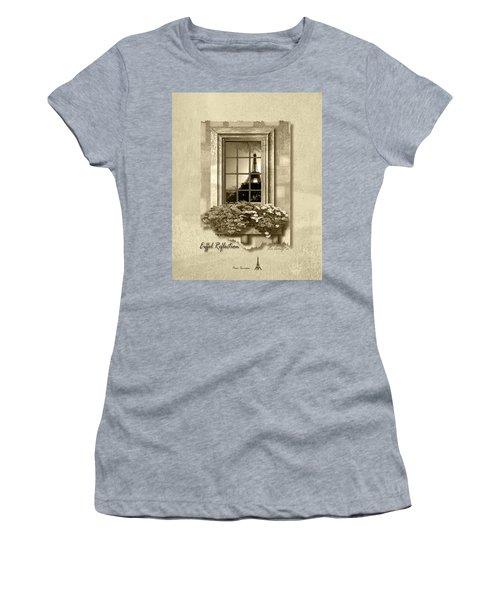Eiffel Reflection In Sepia Women's T-Shirt