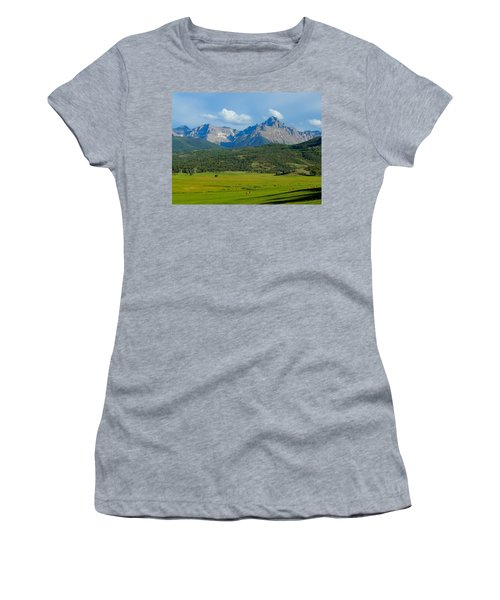 Elk Below Mount Sneffels Women's T-Shirt