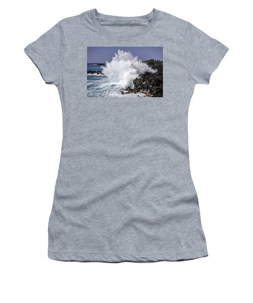 End Of The World Explosion Women's T-Shirt (Junior Cut) by Denise Bird