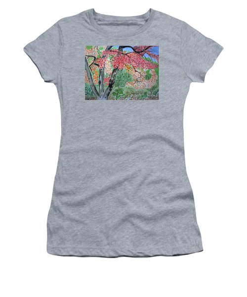 Enjoying Lost Maples Women's T-Shirt (Athletic Fit)