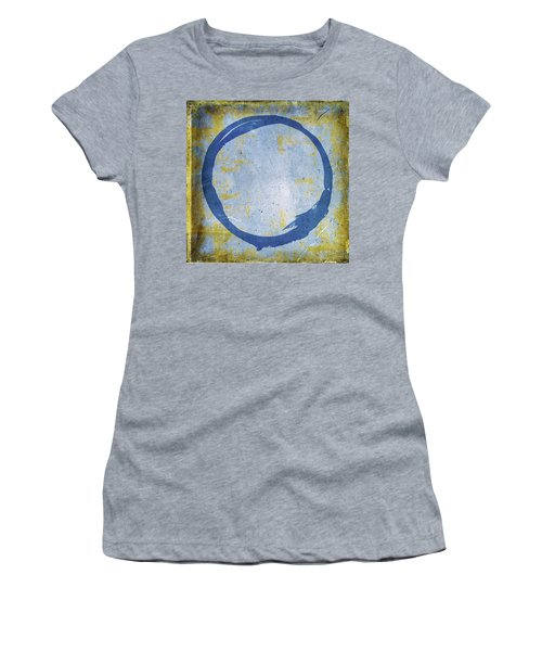 Enso No. 109 Blue On Blue Women's T-Shirt (Athletic Fit)