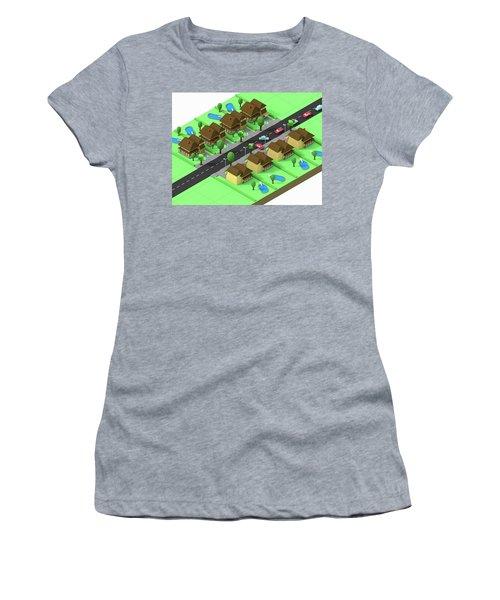 Escape Suburbia Women's T-Shirt (Athletic Fit)