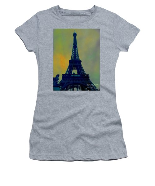 Evening Eiffel Tower Women's T-Shirt (Athletic Fit)