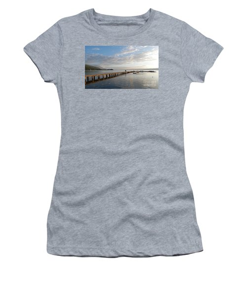 Evening - Lake Ohrid - Macedonia Women's T-Shirt (Junior Cut) by Phil Banks