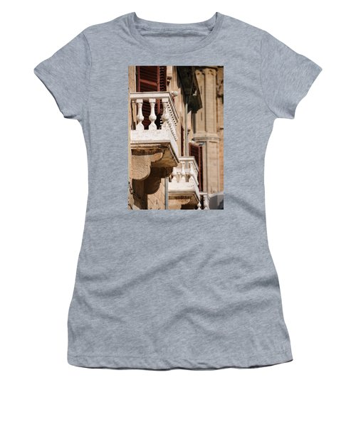 Famagusta Balconies Women's T-Shirt (Junior Cut) by Jeremy Voisey