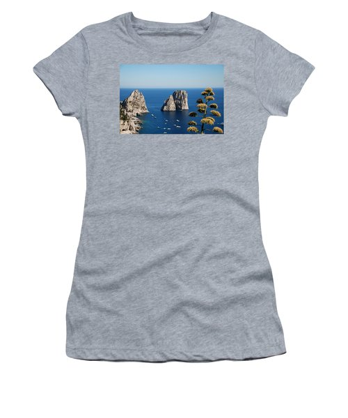 Faraglioni In Capri Women's T-Shirt (Athletic Fit)