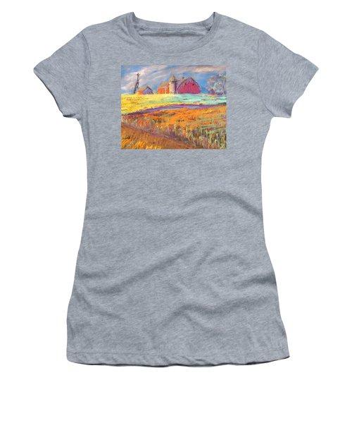 Farmland Sunset Women's T-Shirt (Junior Cut) by Terri Einer
